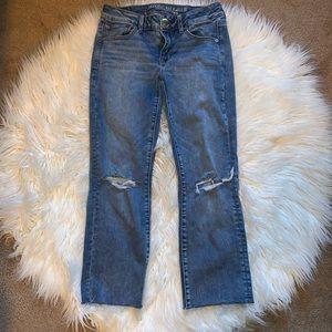 American Eagle Straight Crop Jean